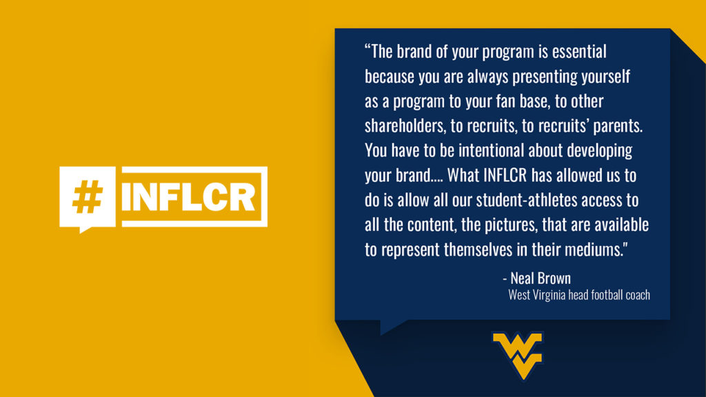 INFLCR, West Virginia Football launch partnership